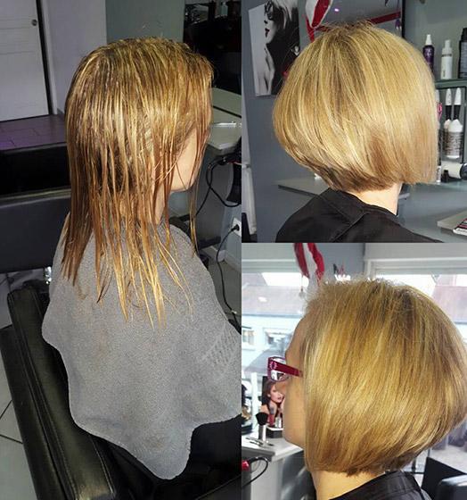 Coiffure pour femme réalisée par votre coiffeur à Roncq