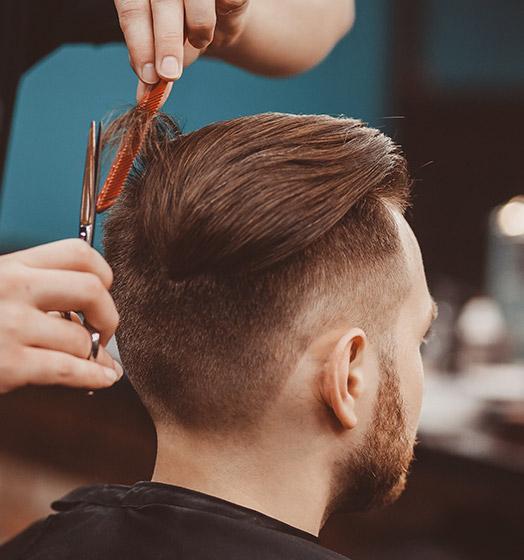 Coupe homme réalisée par votre coiffeur à Roncq